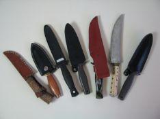 7 diverse Pfadfindermesser.- - -19.00 % buyer's premium on the hammer price19.00 % VAT on buyer's