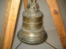 Glocke, 18./19. Jahrhundert, Bronze, h 30 cm, d 25 cm.- - -19.00 % buyer's premium on the hammer