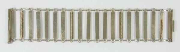 Armband, Walter Rönsch / Eibau attr., 900er Silber Gew.25,30g, Stabglieder, unterschiedl.