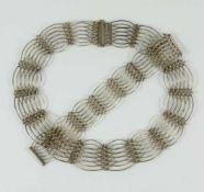 Collier und Armband, Walter Rönsch / Eibau, 900er Silber Gew.64,95g, Silberschmiedearbeit,