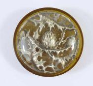 großer Knopf mit Distel, Jugendstil um 1910Kunststoff, leicht gewölbt, innen plastische