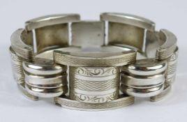 Armband, Art Déco, 835er Silber, Tschechoslowakei, 1929-1942Gew.32,71g, leicht gebogene Glieder,