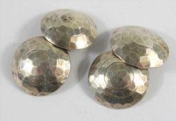 Paar silberne Manschettenknöpfe, Hammerschlagdekor, Gew.9,15g