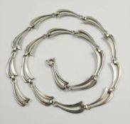 Collier, Art Déco, 835 Silber, ungedeutete Punze KH, Gew.18,54g, L.42cm