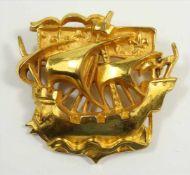 """Brosche """"Segelschiff"""", AB EDIT, Paris (Arthus Bertrand), Frankreich wohl 50er Jahre, Bronze, Gew."""