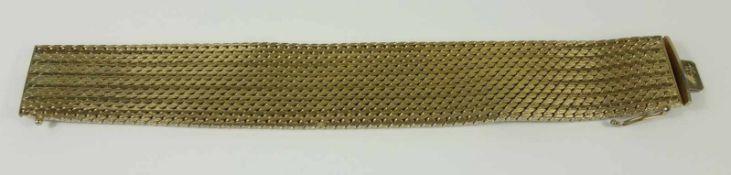 Armband, vergoldet, Steckschloss mit Sicherheitsacht, L.19,5cm, B.2,5cmwide bracelet, gold-plated- -