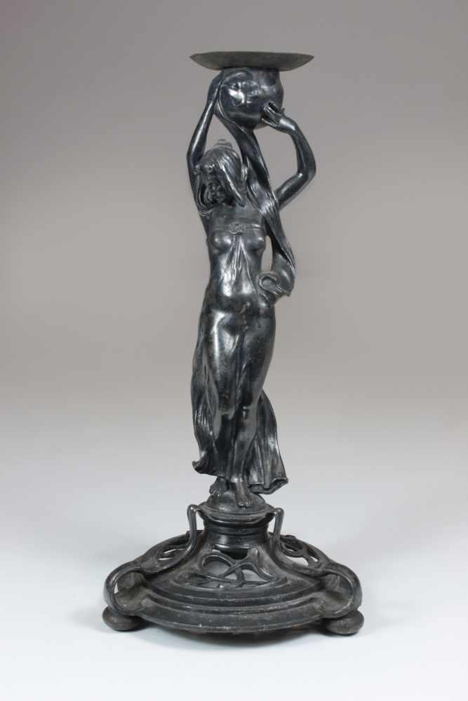Lot 40 - WMF Art Nouveau - Figürlicher Stand, um 1900, ursprünglich zu einer Aufsatzschale gehörend,