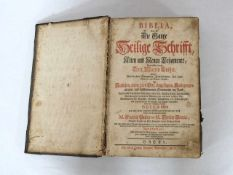 LUTHER, MartinBibliaBasel 1760 (Ledereinband der Zeit)- - -25.00 % buyer's premium on the hammer