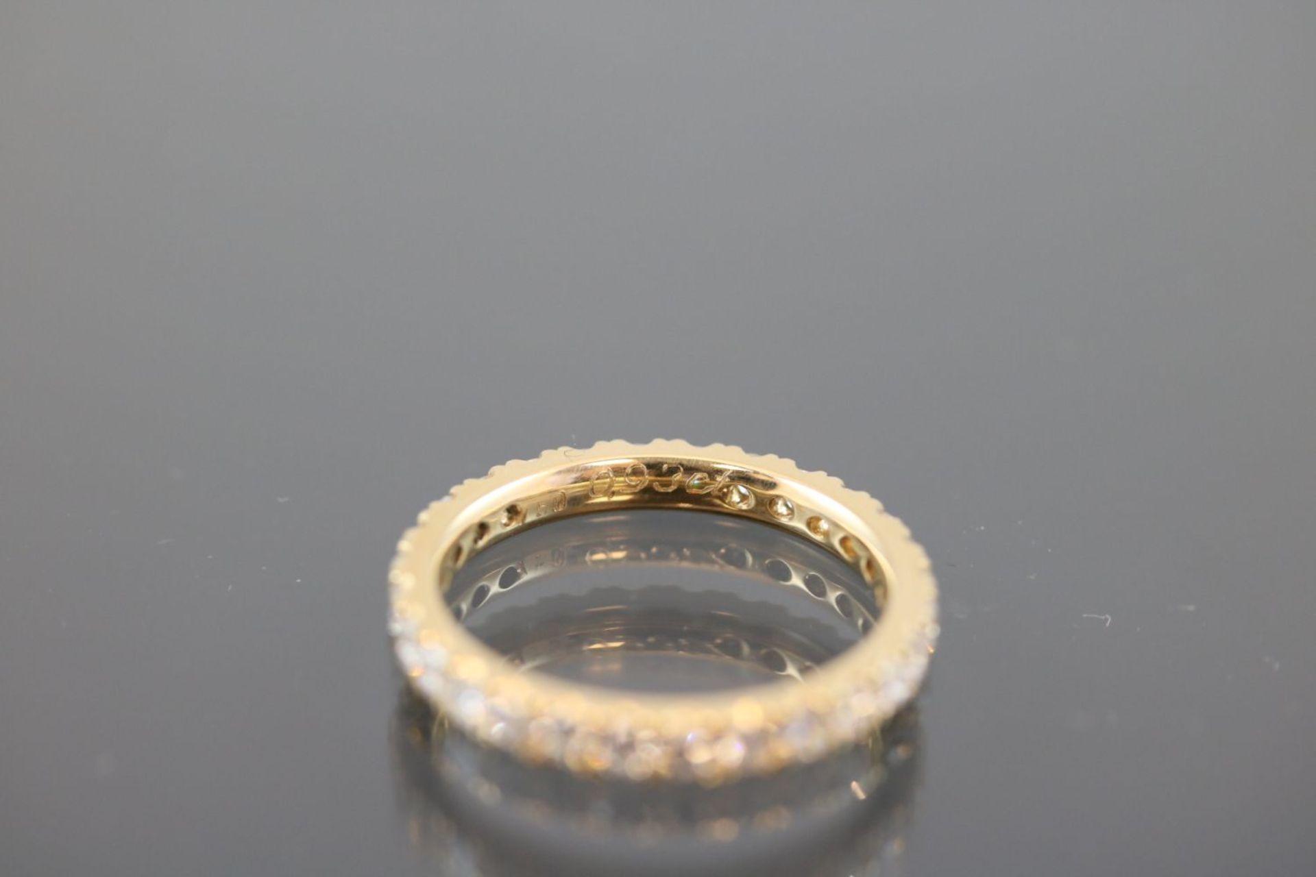 Los 12 - Alliance, 750 Gelbgold2,7 Gramm Billanten, 0,93 ct., tw/si. Ringgröße: 51Zustand: