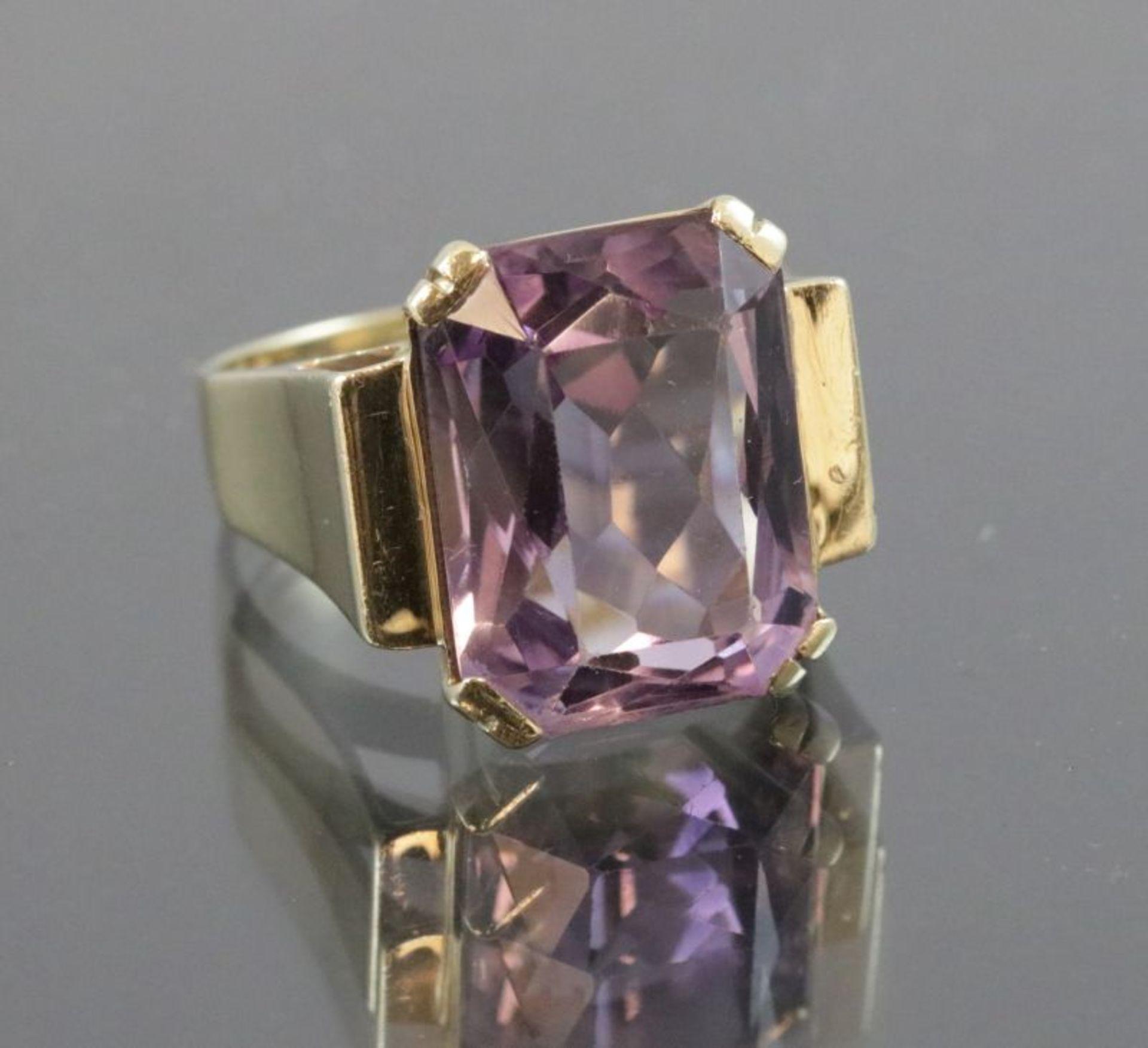 Los 57 - Amethyst-Ring, 585 Gold10 Gramm Ringgröße: 56