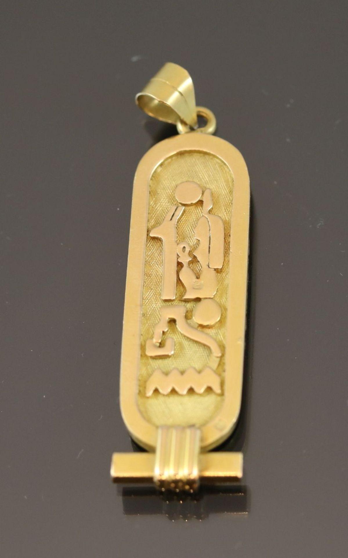 Ägyptischer-Anhänger, 900 Gold15,9 Gramm Länge: 6 cm - Bild 3 aus 4