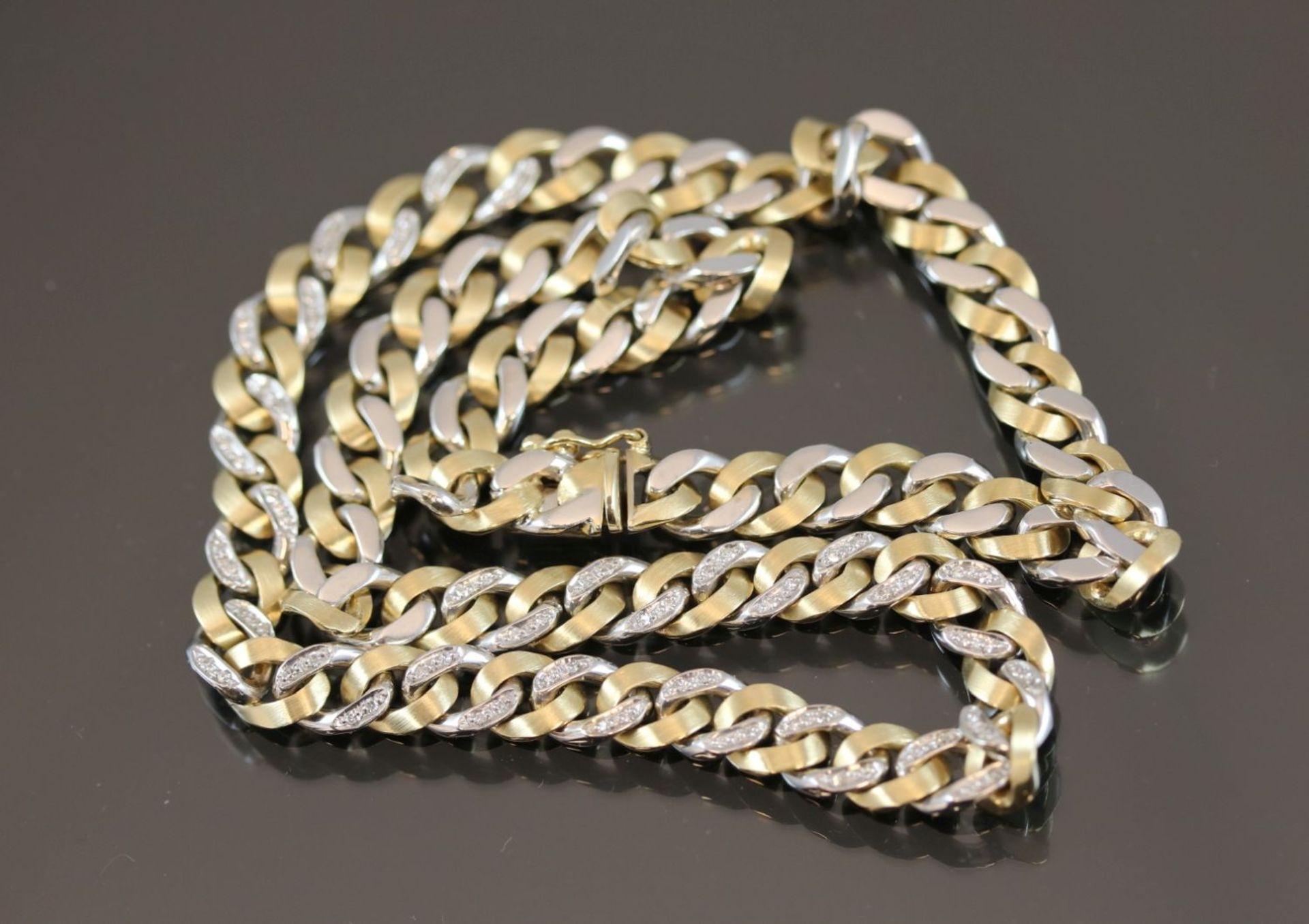 Los 8 - Diamant-Halskette, 585 Gold47,7 Gramm 72 Diamanten, 0,35 ct., w/si. Länge: 42 cm Schätzpreis: 4000,-