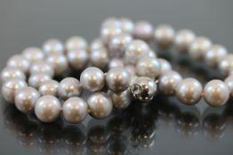 Perlkette, Magnetverschluß63,8 Gramm Länge: 45 cm Perlendurchmesser: 10,5 mm