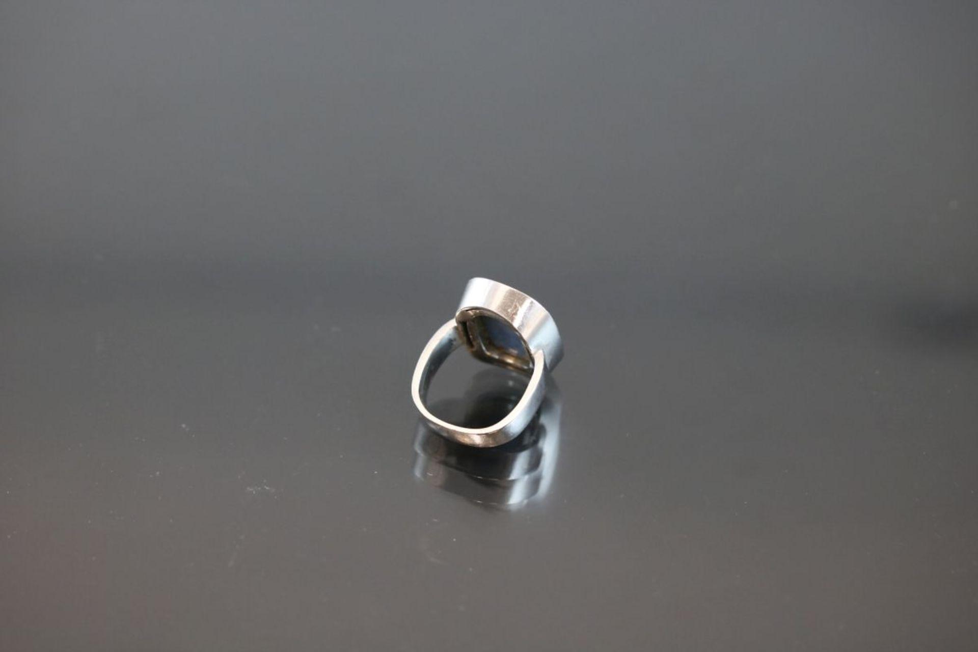 Opal-Brillant-Ring, 750 Weißgold11,3 Gramm 22 Brillanten, 0,66 ct., tw/vsi. Ringgröße: - Bild 3 aus 3