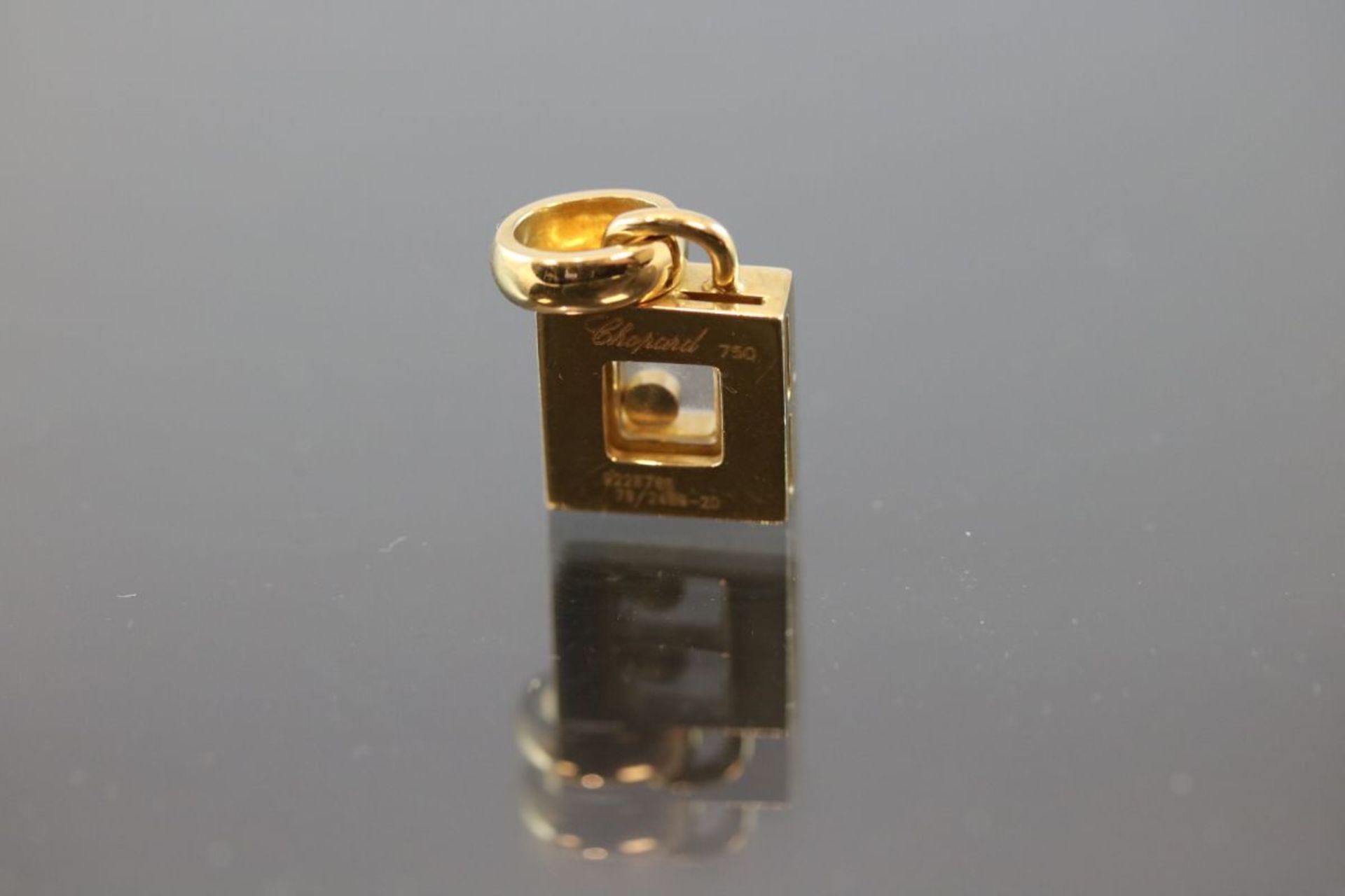 Chopard-Brillant-Anhänger, 750 Gold7,7 Gramm 10 Brillanten, 0,30 ct., tw/vsi. 9228786, 79/2486-20. - Bild 2 aus 3