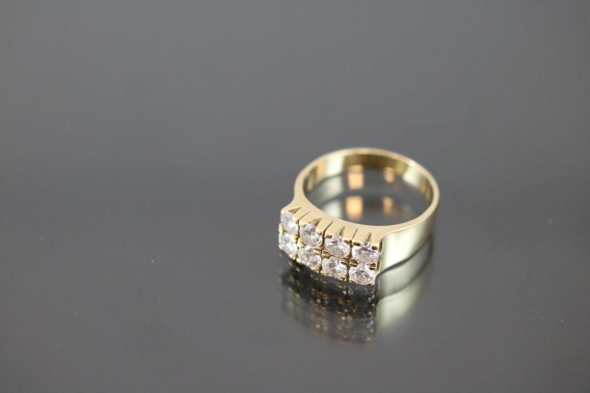 Brillant-Ring, 750 Gold6,17 Gramm 8 Brillanten, ca. 1,76 ct., tw/si. Ringgröße: 56Schätzpreis: