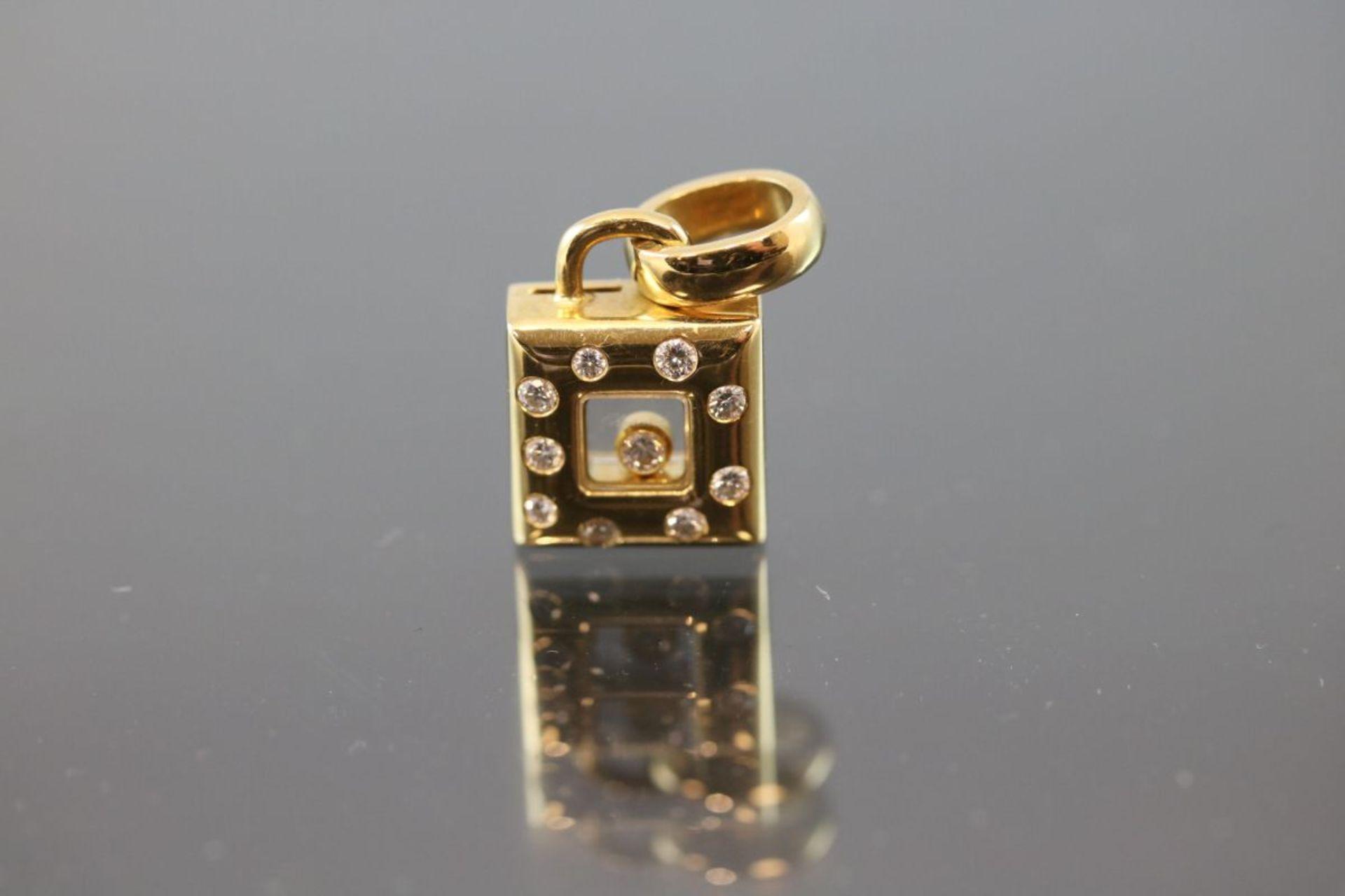 Chopard-Brillant-Anhänger, 750 Gold7,7 Gramm 10 Brillanten, 0,30 ct., tw/vsi. 9228786, 79/2486-20.
