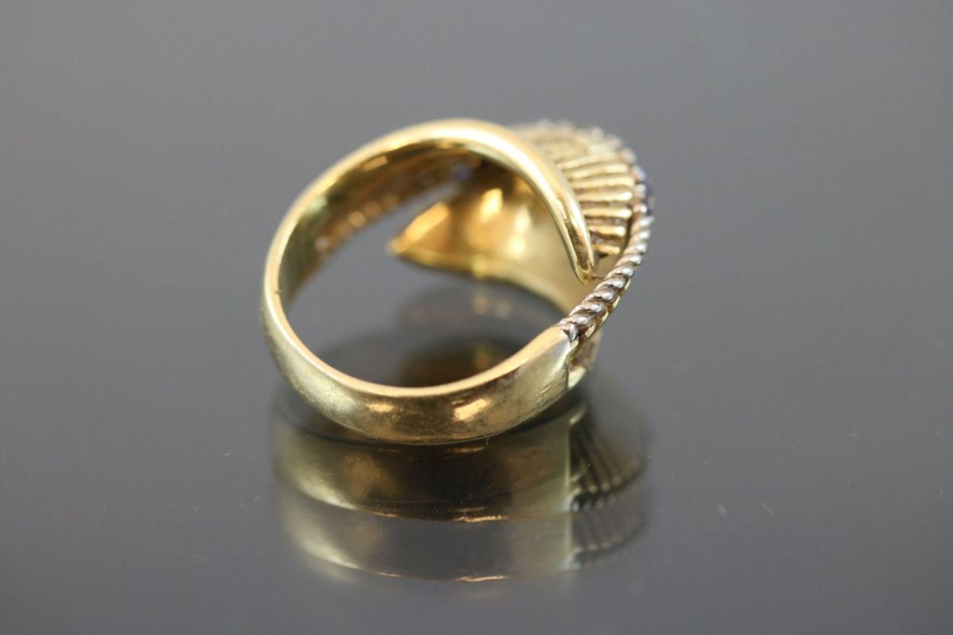 Saphir-Ring, 750 Gelbgold9,2 Gramm Ringgröße: 52Schätzpreis: 700,- - Bild 3 aus 3