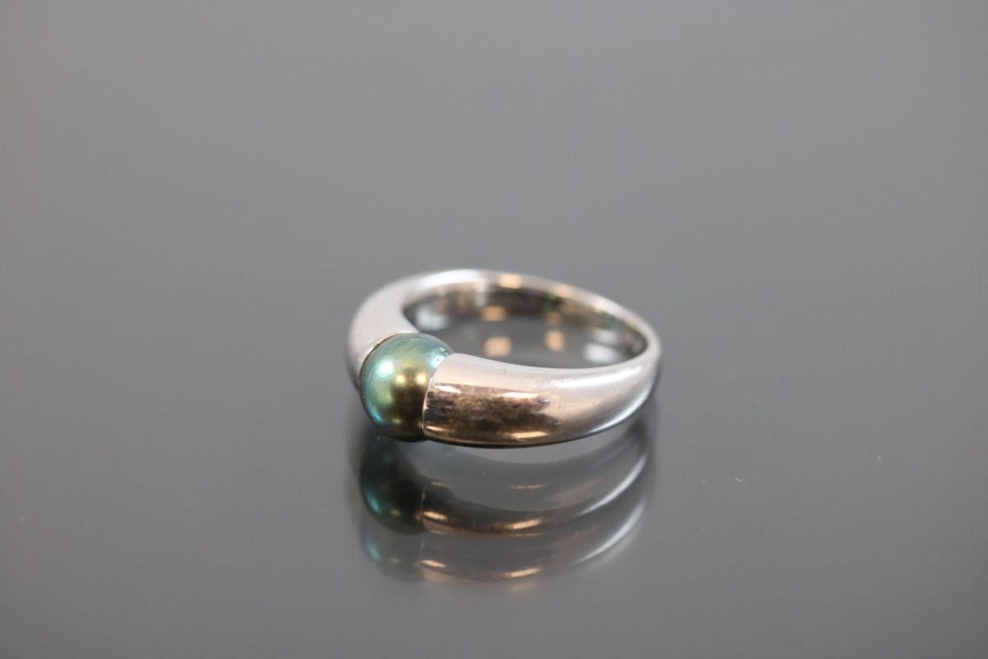 Tahiti-Perlen-Ring, 750 Weißgold7,1 Gramm 1 Tahitiperle, Ringgröße: 51Schätzpreis: 1600,- - Bild 2 aus 3