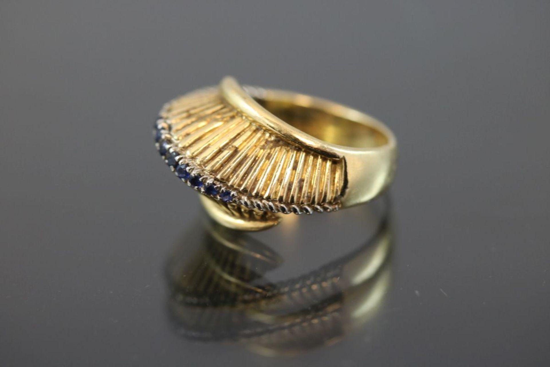 Saphir-Ring, 750 Gelbgold9,2 Gramm Ringgröße: 52Schätzpreis: 700,- - Bild 2 aus 3