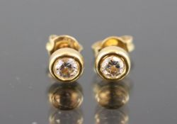 Brillant-Ohrstecker, 750 Gelbgold2,0 Gramm 2 Brillanten, 0,60 ct., tw/vsi. Schätzpreis: 2600,-