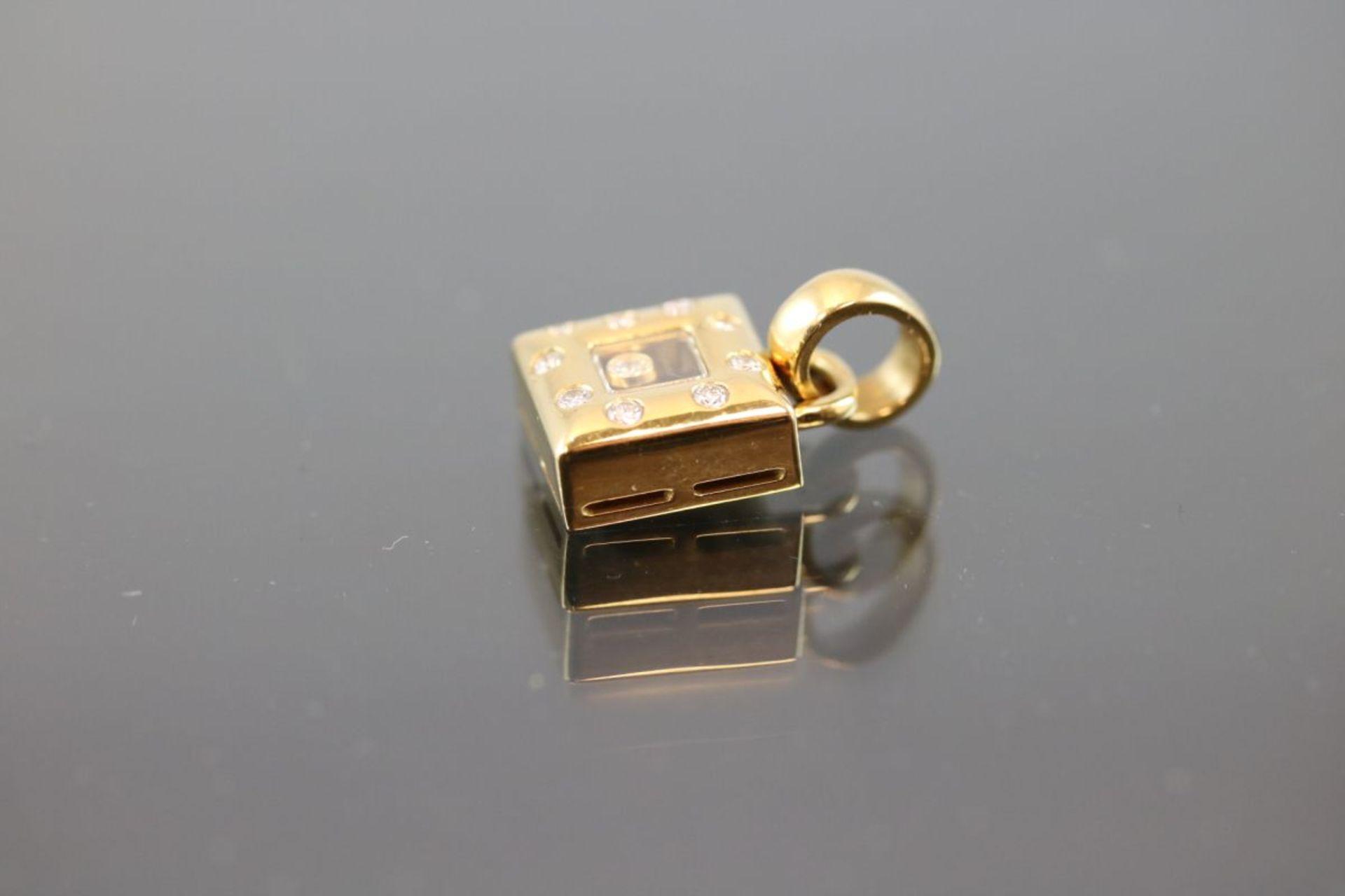 Chopard-Brillant-Anhänger, 750 Gold7,7 Gramm 10 Brillanten, 0,30 ct., tw/vsi. 9228786, 79/2486-20. - Bild 3 aus 3