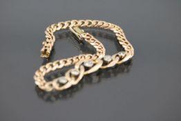 Diamant-Armband, 585 Gelbgold10,7 Gramm 5 Diamanten, ca.0,40 ct., c/p1. Länge: 19 cm