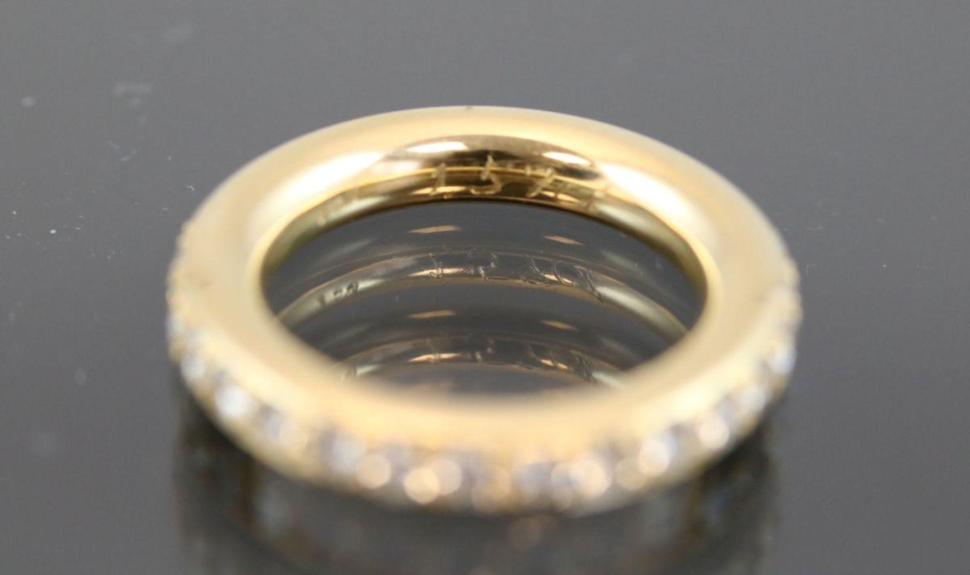 Brillant-Ring, 750 Gelbgold10,3 Gramm Brillanten, 1,57 ct., w/si. Ringgröße: 54Zustand: Neuwertig/ - Bild 2 aus 2