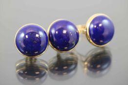 Lapislazuli-Set, 750 Gelbgold22,85 Gramm 3 Lapislazuli, Ringgröße: 62Set bestehend aus Ring und