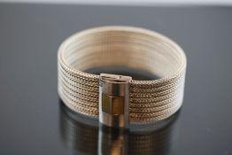 Design-Armband, Gold/Paladiun/Silber59 Gramm Breite: 2,5 cm, Länge: 18 cm Schätzpreis: 2000,- - - -
