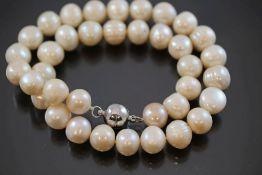 Perlenkette, Magnetschließe91,3 Gramm Perlen, Länge: 45 cm Perlendurchmesser: 12mm- - -25.00 %