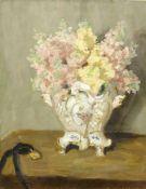 Klein, Philipp (1871 Mannheim - 1907 Hornegg am Neckar)Stillleben mit Blumen in einer Porzellanvase.