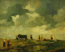 Bohnefeld, Walter (1880 - 1960 Berlin)Märkische Landschaft. 1920er Jahre. Öl auf Leinwand auf