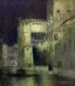 Leipold, Karl (1864 Duisburg - 1943 Würzburg)Venezianische Impression. Öl auf Leinwand. 70 x 60,4