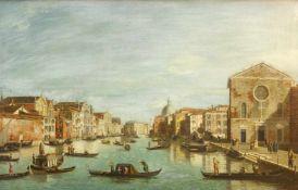 James, William (erwähnt 1730 - 1780) Canale Grande, Venedig. Von Santa Groce nach Nord-Osten