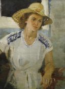 Makatukha, Wassili (1922 Kitajgorod/Ukraine - 2006) Frauenporträt. 1954. Öl auf Leinwand. 87 x 65