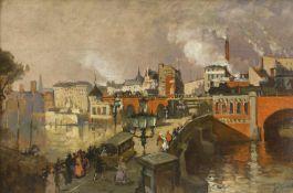 Jacob, Julius d. J. (1842 Berlin - 1929 ebd.)Berlin, Jannowitzbrücke und Alexanderstrasse. 1900.