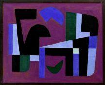 Diener, Rolf (1906 Gößnitz - 1988 Hamburg)Auf violettem Grund. 1982. Öl auf Leinwand. 60,3 x 75,2
