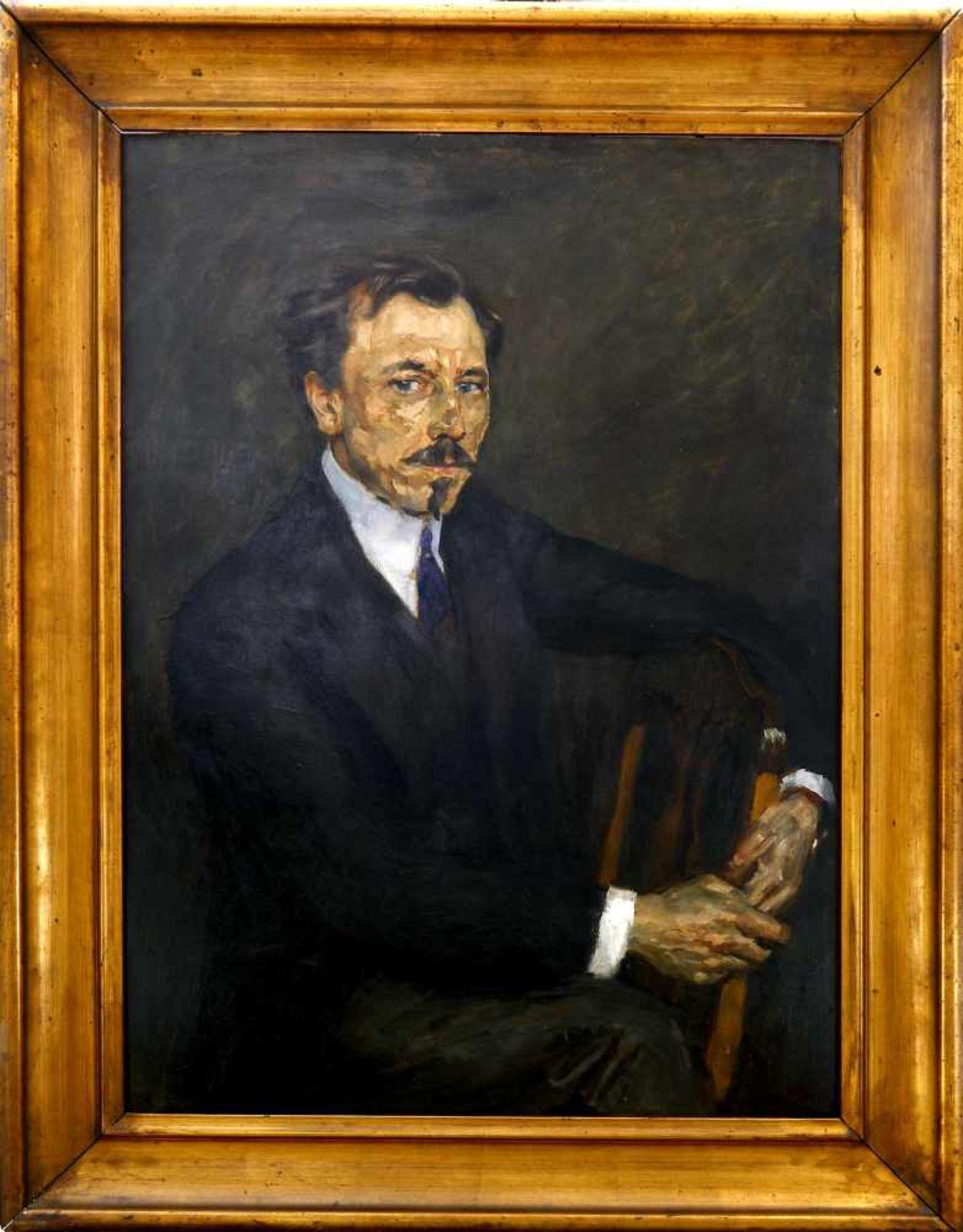 Fürst, Edmund (1874 Berlin - 1955 ebd.)Bildnis des Schriftstellers Erdmann Graeser (1870 Berlin - - Bild 2 aus 3