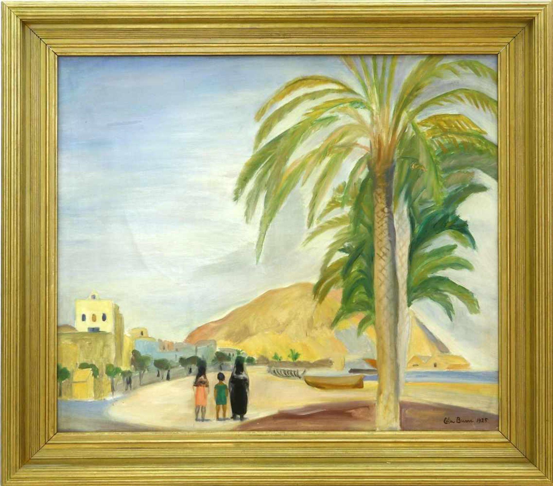 """Busse, Lilja (1897 Moskau - 1958 Berlin)Alicante. 1925. Aus dem Zyklus """"Spanien"""". Öl auf Leinwand. - Bild 2 aus 3"""