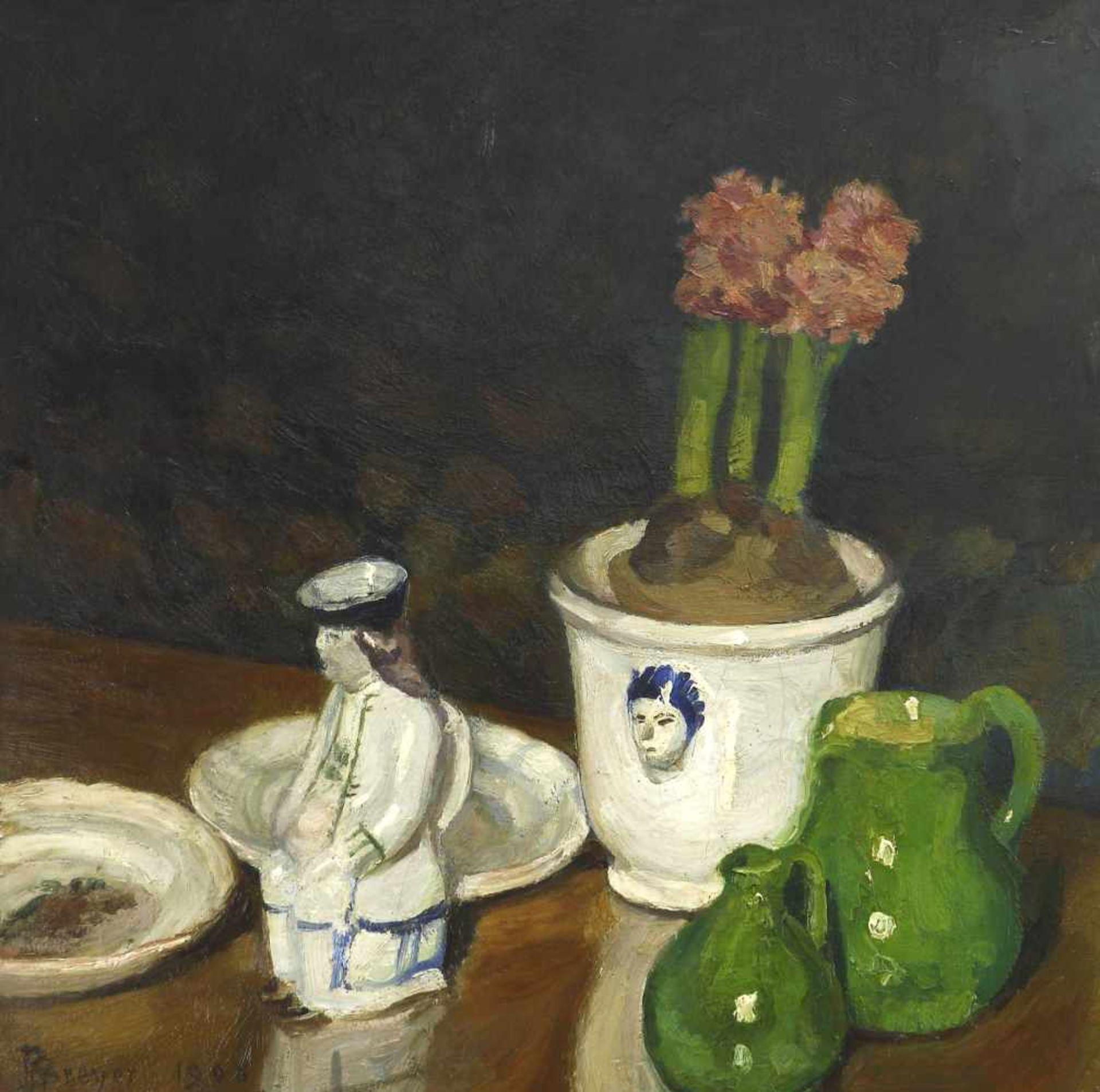 Breyer, Robert (1866 Stuttgart - 1941 Bensheim-Auerbach)Stillleben mit Hyazinthen und