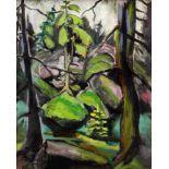 Beyer, Otto (1885 Kattowitz - 1962 Berlin)Waldlandschaft. 1929. Öl auf Leinwand. 80 x 64 cm. Links