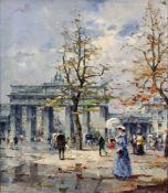 Bartsch, Reinhold (1925 Berlin - 1990 ebd.)Berlin - Am Brandenburger Tor, mit zahlreichen Passanten.