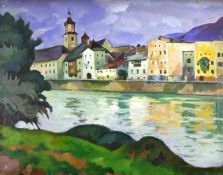 Gotzmann, Emmy (1881 Frankfurt/M. - 1950 Berlin)Rattenberg am Inn (Tirol in Österreich). 1930. Öl
