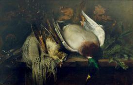 Krause, Emil (Maler des 19. Jh.)Jagdstillleben. 1894. Öl auf Leinwand. 50 x 75 cm. Links unten