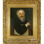 Liebermann, Max (1847 Berlin - 1935 ebd.)Bildnis Sanitätsrat Dr. Sachs (1811-1883). 1878. Öl auf