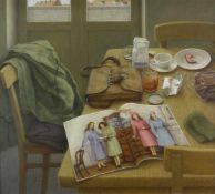 Ament, Ilse (1941 Filipovo/Jugoslawien, lebt in Kiel)Vorbildlich !. 1980. Öl auf Hartfaser. 40,5 x