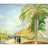 "Busse, Lilja (1897 Moskau - 1958 Berlin)Alicante. 1925. Aus dem Zyklus ""Spanien"". Öl auf Leinwand."