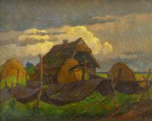 Knauf, Carl (1893 Godesberg - 1944 Nidden)Landschaft bei Nidden an der Kurischen Nehrung. Öl auf