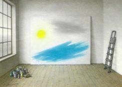Ament, Ilse (1941 Filipovo/Jugoslawien, lebt in Kiel)Atelier. 1994; Großes Bild. 1994; Feuerblüte.